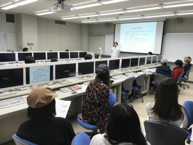 大阪商業大学での授業風景、酒のにしだ