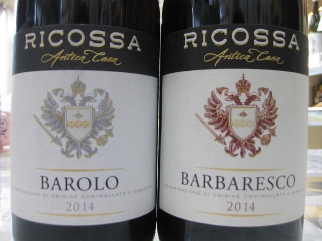 RICOSSA(リコッサ)バルバレスコとバローロ